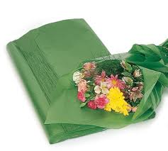 WAXED TISSUE PAPER GREEN EACH SHEET
