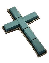OASIS FLORAL FOAM CROSS 20""
