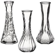 "#4063 6"" ASSORTED GLASS BUD VASES/EACH"