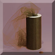 "NYLON TULLE 6"" X 25 YD CHOCOLATE"