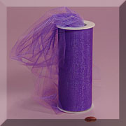 "NYLON TULLE 6"" X 25 YD purple"